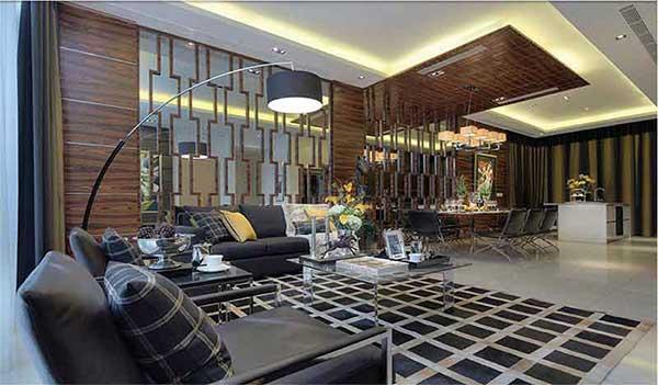 Palms @ Sixth Avenue Living Room