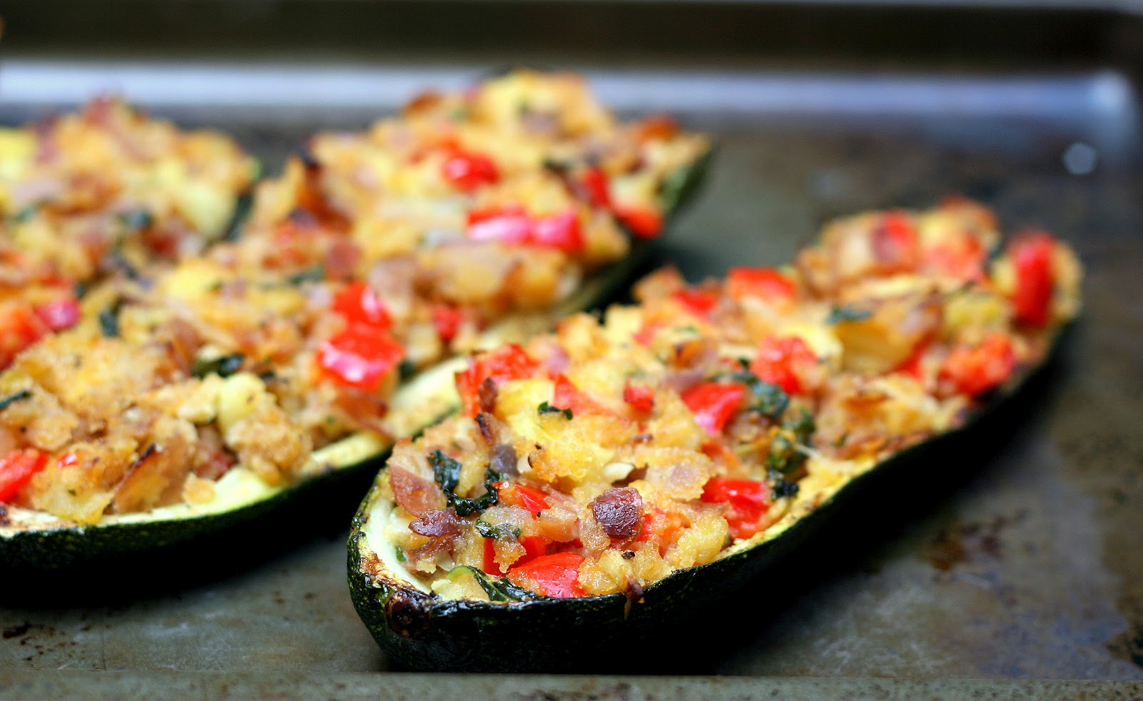 stuffed zucchini boats 4 medium zucchinis 1 tbsp olive oil