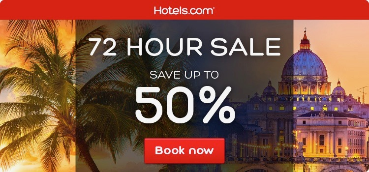 50% off at Hotels.com