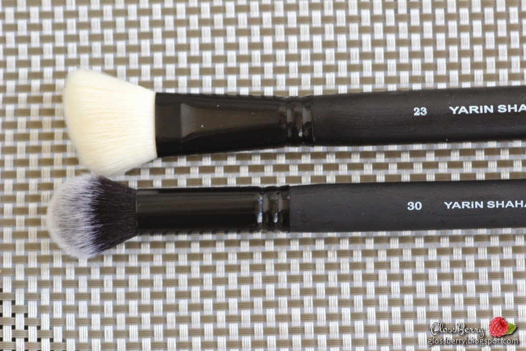 yarin shahaf concept makeup brushes review מברשות ירין שחף קונספט פנים סומק ברונזר