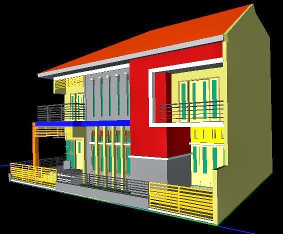 Foto Desain Rumah 2 Lantai