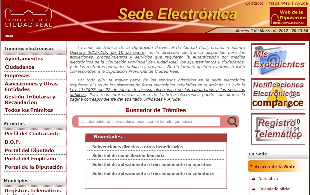 Actualidad jur dica hoy ajh nueva sede electr nica de for Aeat oficina virtual sede electronica