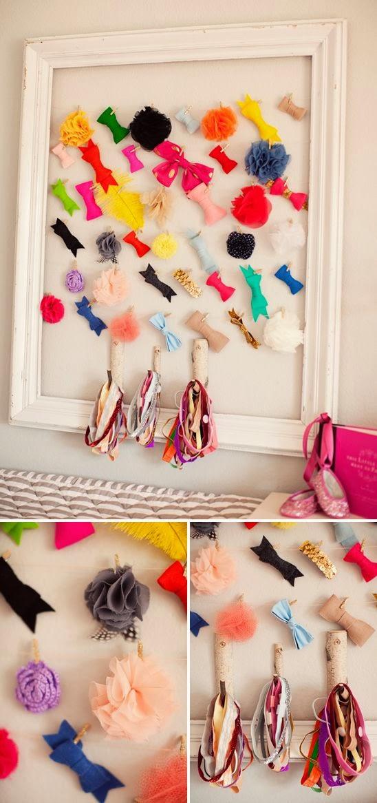 koradecora: como colgar gomas, lazos y cintas para el pelo