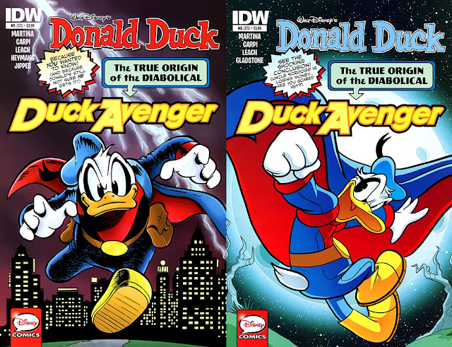 The Diabolical Duck Avenger in IDW's Donald Duck #5 and #6 (legacy 372 and 373).