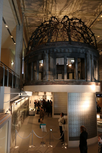 The replica of A-Bomb Dome at Hiroshima Peace Memorial Museum in Japan