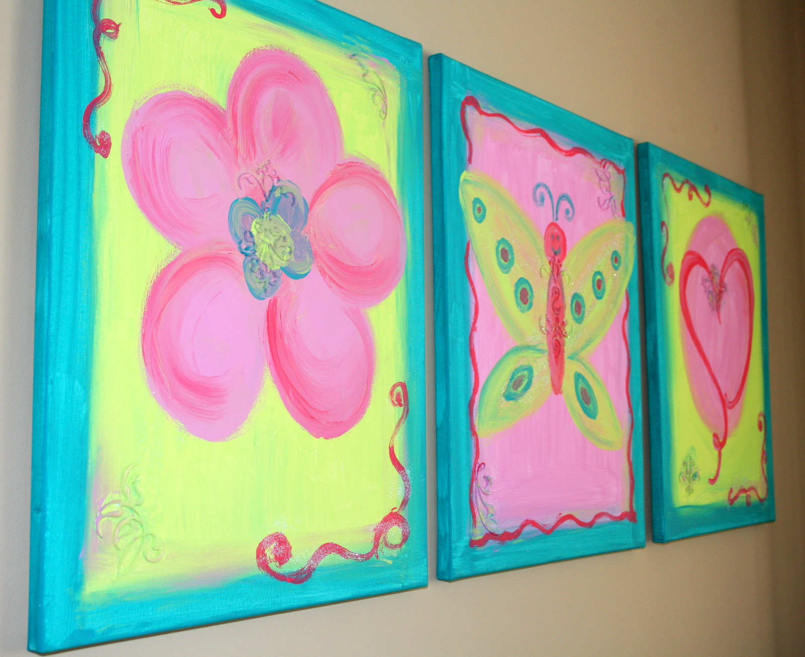 Through my creative mind colorful canvas paintings for Back painting ideas easy