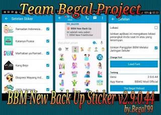 BBM Mod Free Stiker Versi 2.9.0.44