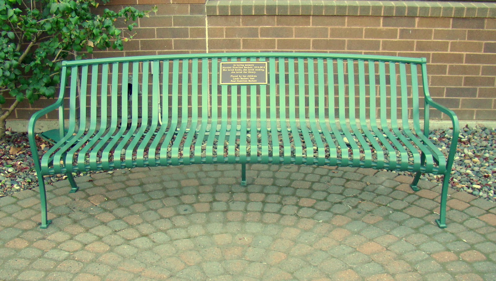 Neill Public Library: Library Bench Placed in Memory of ...