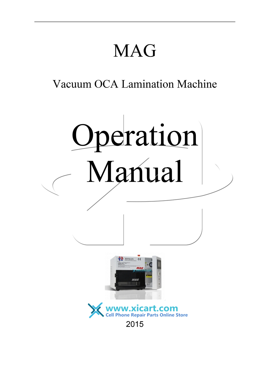 Instruction Manual For Hz 5 In 1 Mag Vacuum Laminator Machine