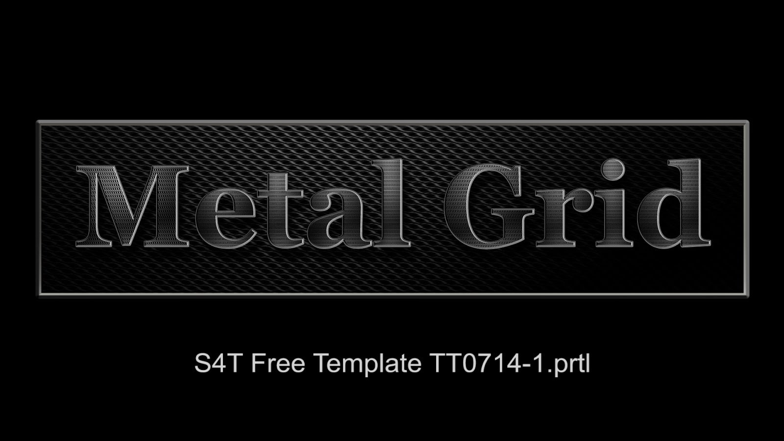 free s4t premiere pro title template plus texture metal grill