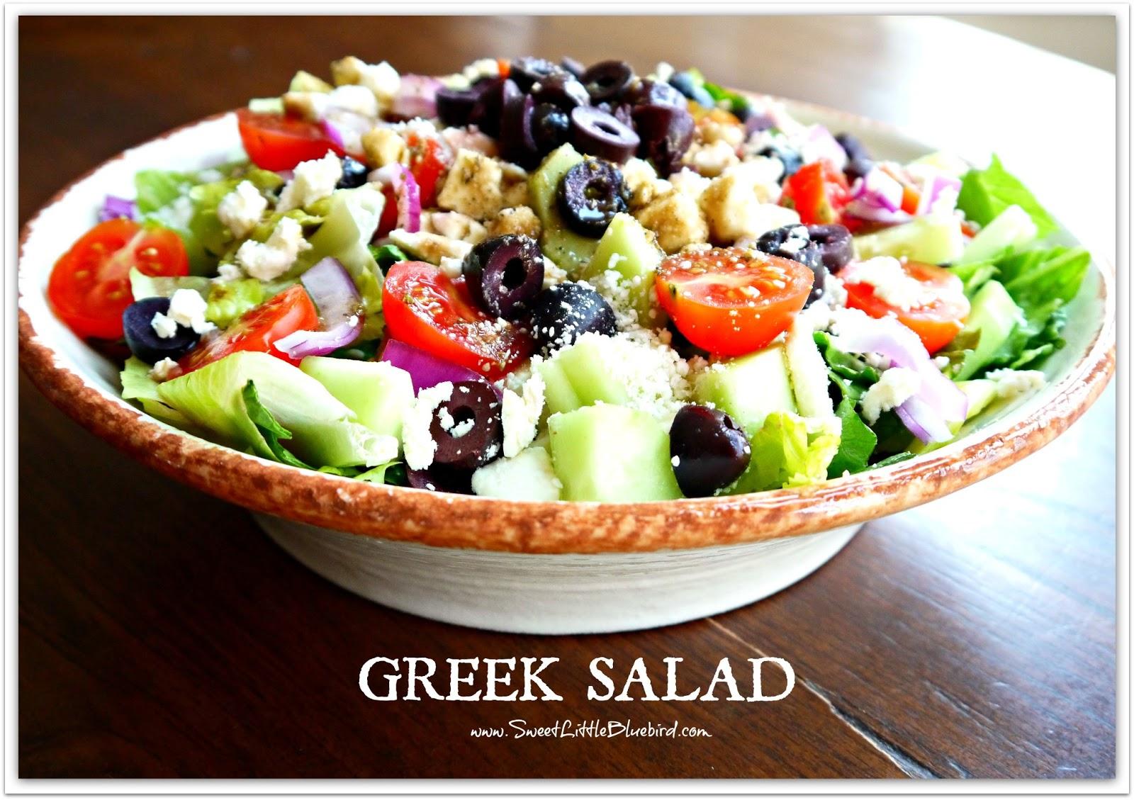 Traditional Greek Salad Greek salad and my naan greek..