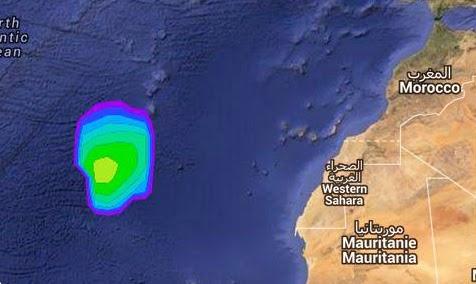 Tormenta tropical cerca de Canarias diciembre 2014