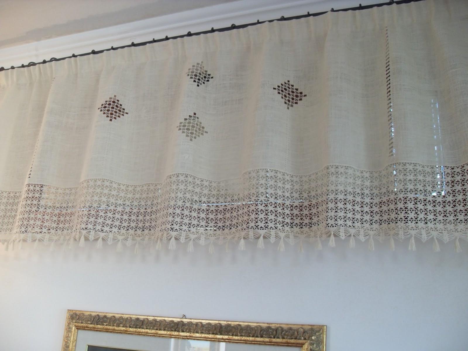 Piccoli lavori tenda con hardanger merletto all 39 uncinetto for Pizzi all uncinetto per lenzuola