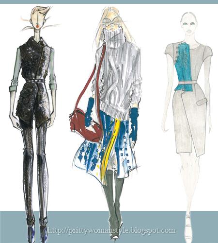 Светло синьо-сиво цвят за дамска мода есен 2011