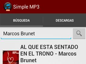 Sección de Búsqueda - App Simple Mp3 Downloader Pro