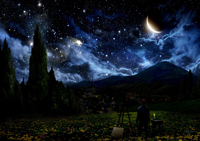 Van Gogh Starry Night Original Painting   wallpaper