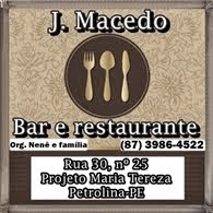 Bar e restaurante J. Macedo