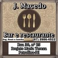 Bar e restaurante J. Macedo