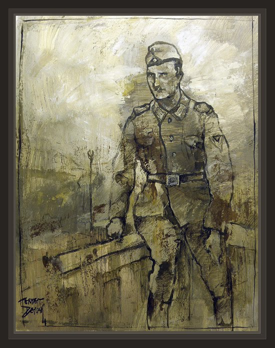 PAINTINGS-WW2-ART-GERMAN SOLDIERS-GERMANY-SOLDADOS ALEMANES-ALEMANIA-PINTURA-ARTE-ERNEST DESCALS