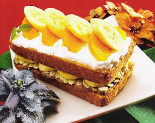 Peachy Banana Split Cake