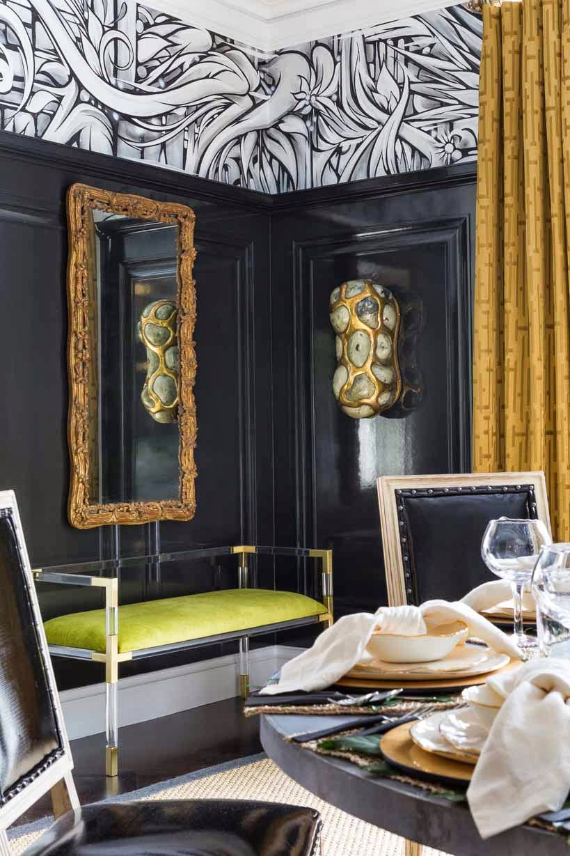 The Restrained Color Palette Of Black White Plus Grass Green And Gold Drew  Me To Orlandou0027s Dining Room Initially. I Like To Create Juxtapositions And  ...