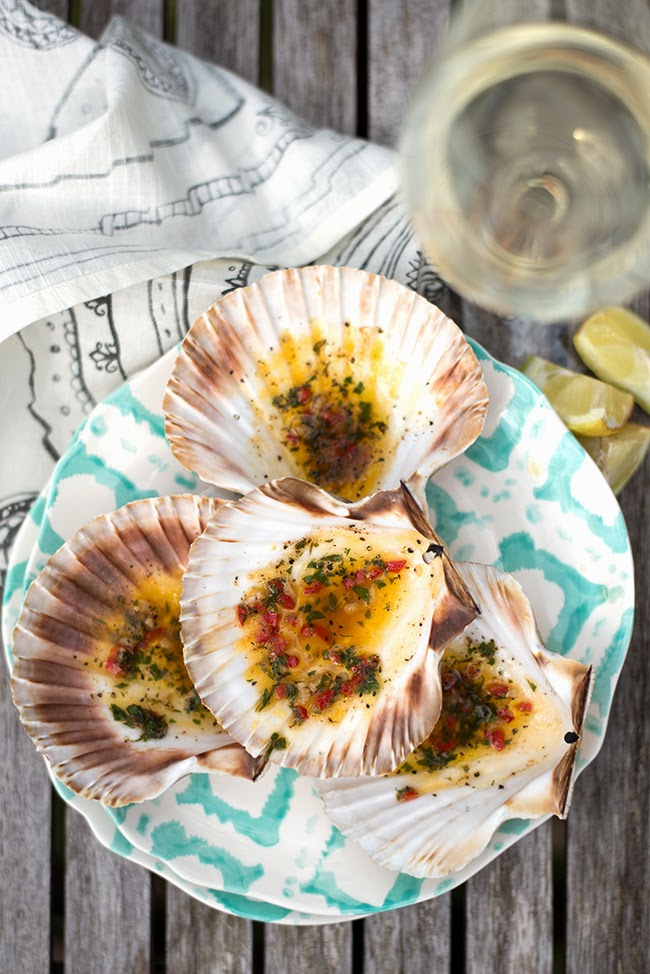 Scallops with chilli butter