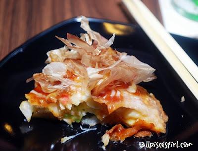Katsuobushi (bonito) flakes on Tori Oko