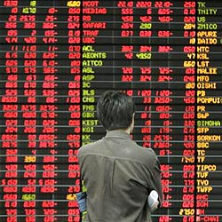 Economic crisis, all stocks in the red