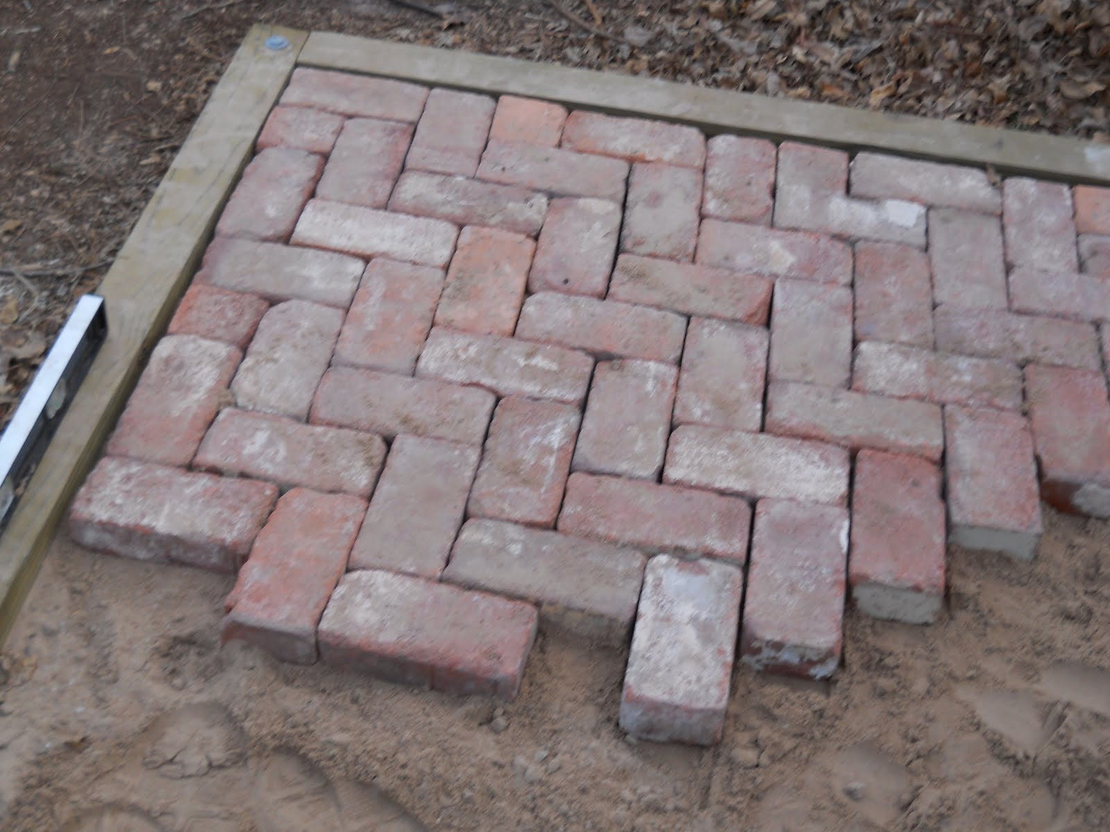 Oklahoma projects around the house diy brick patio for Diy brick projects