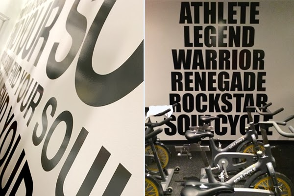 SoulCycle inspiration walls