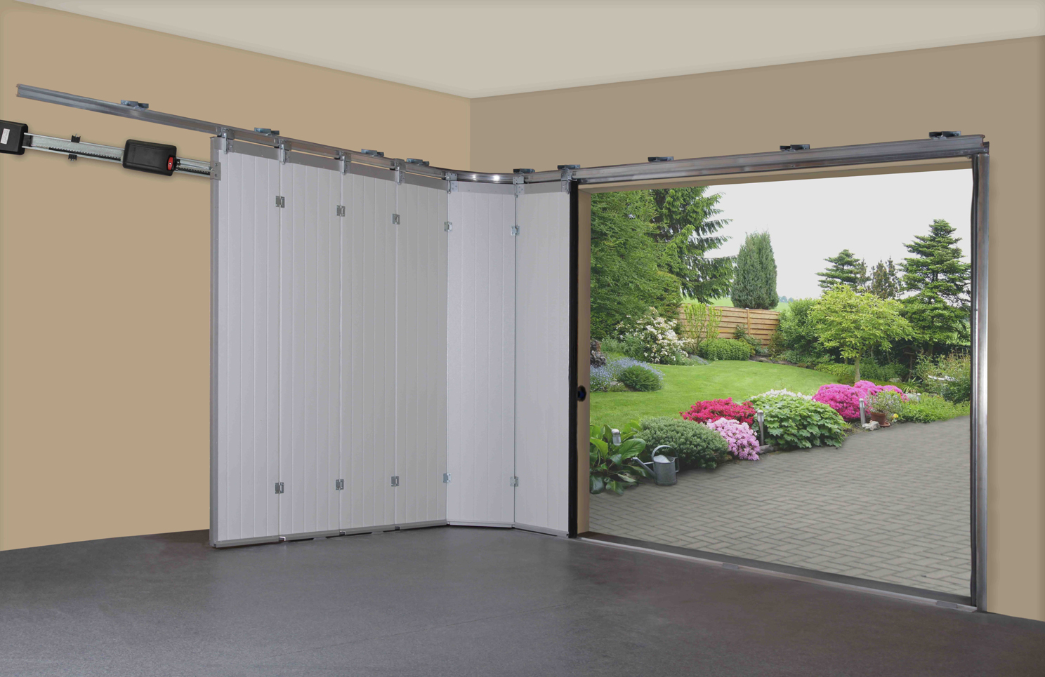 965 #728A41 Side Sliding Doors Ryterna Garage Doors pic Horizontal Garage Doors 37811488