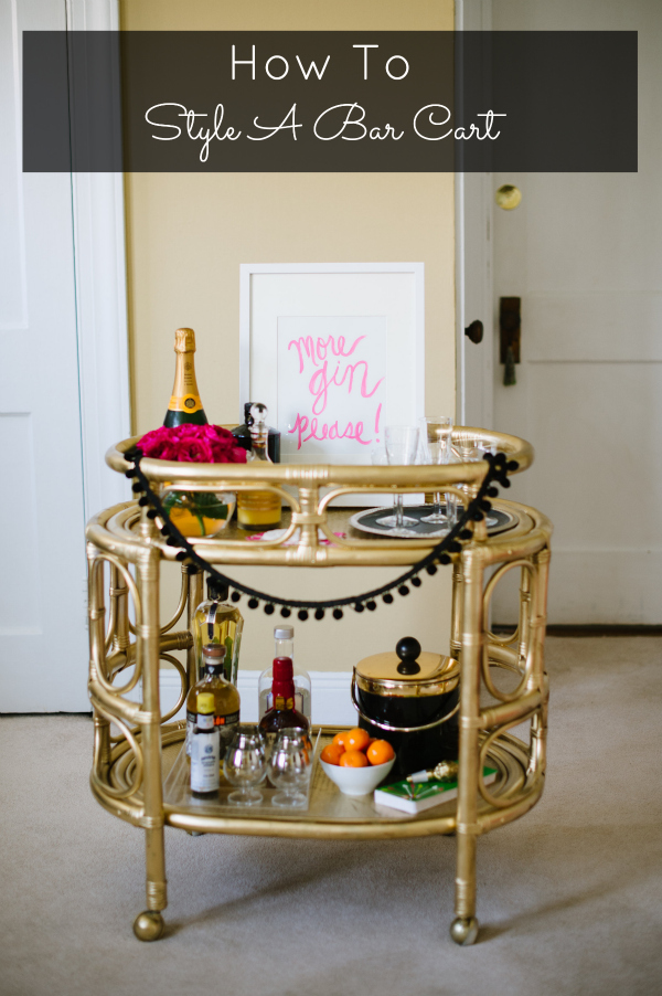 Beau How To Decorate A Bar Cart