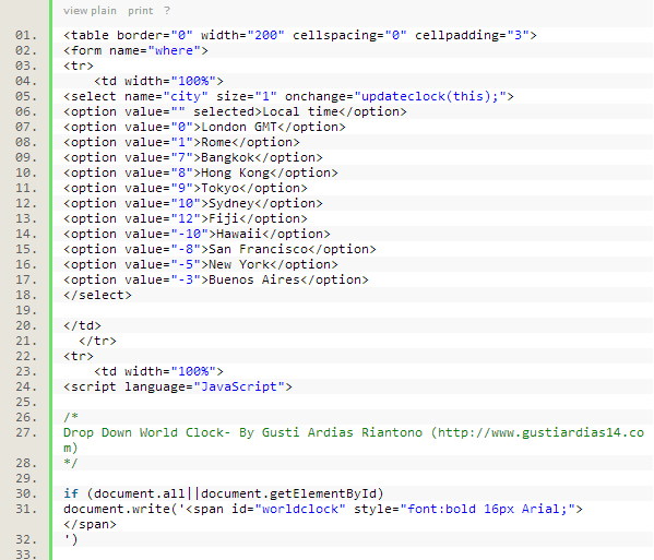 Contoh Syntax Highlighter pada Blog