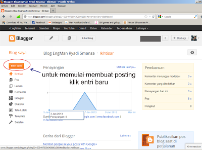 cara membuat posting di blogspot