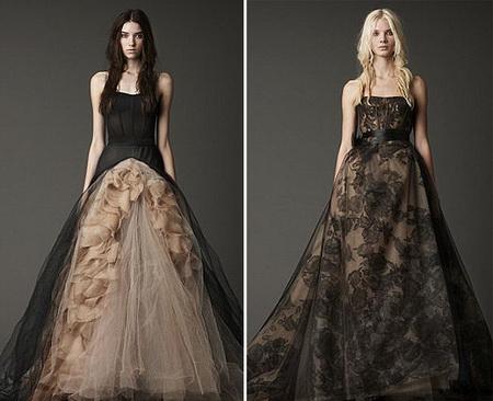 Vera Wang 39s Black Wedding Dresses
