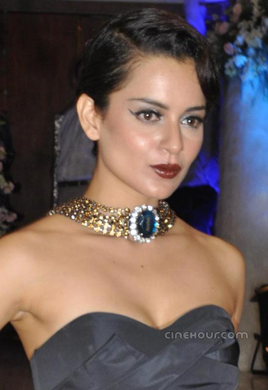 , Kangana Ranaut In Hot Black Dress