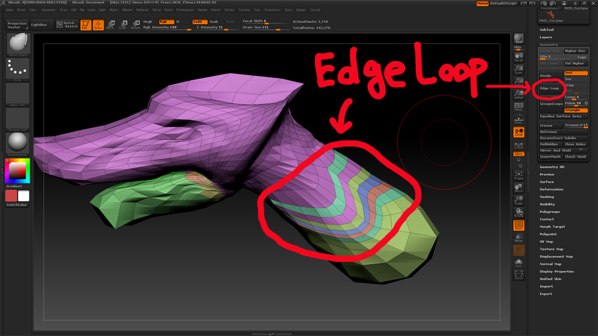 how to delete a polygroup in zbrush