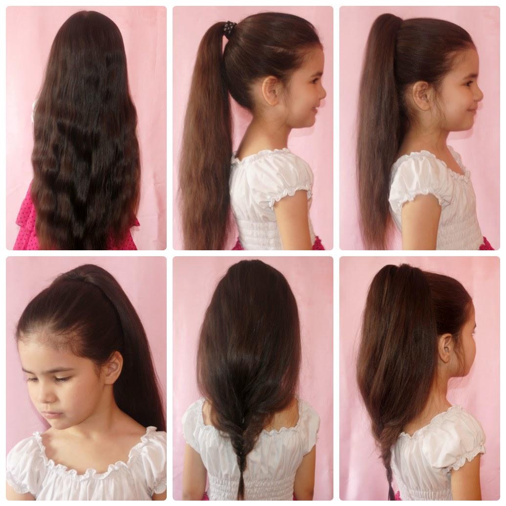 Легкая прическа для средних волос в школу