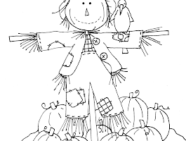 Free Pumpkin Pie Coloring Page