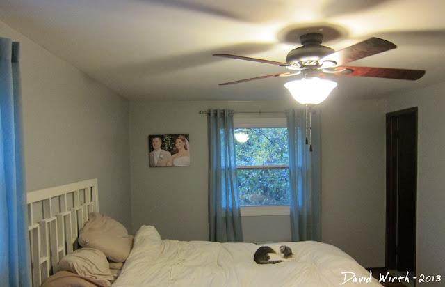 new ceiling fan in bedroom, size of fan in room, space, size, speed