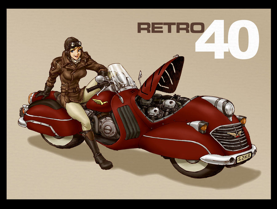 As for weapons  a handy conversion of the weapons from the Best of    Dieselpunk Motorcycle Art