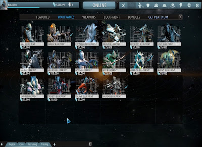 Warframe - Blueprints of Warframes