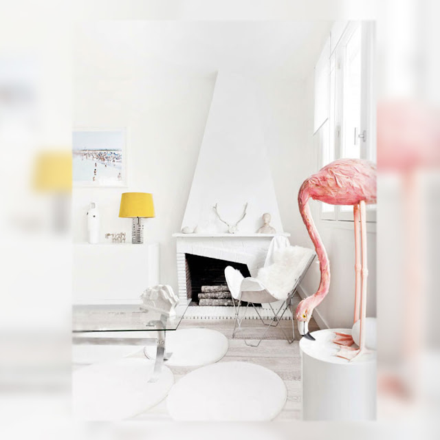 Inspiration Day, Decoracion, La Musa, white, flamingo, butterfly