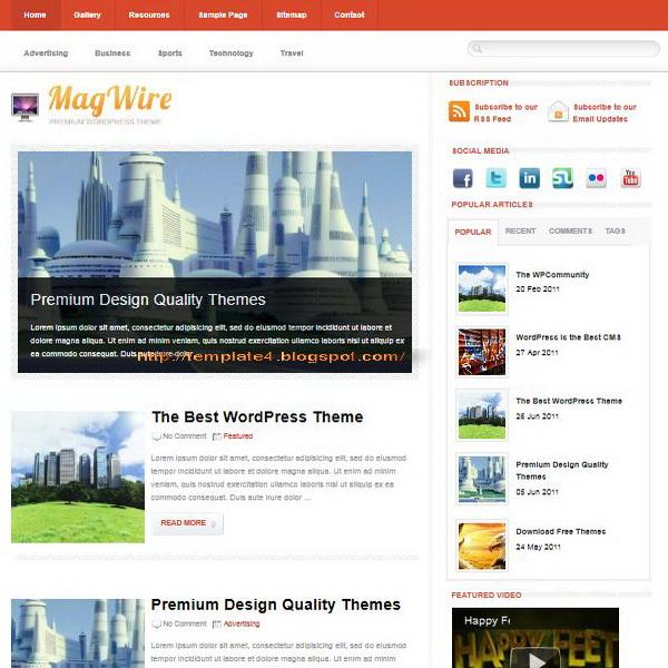 MagWire WordPress Theme