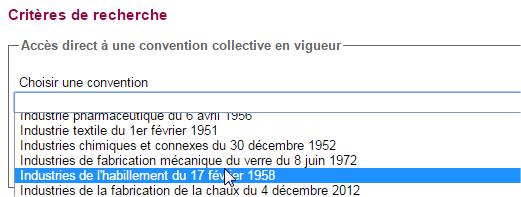 capture d'écran du site Légifrance