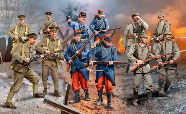 The Modelling News: Build review: WWI Infantry German/ British/ French ...