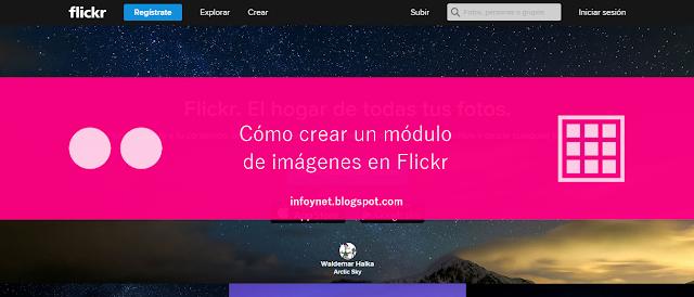 Cómo crear un módulo de imágenes en Flickr