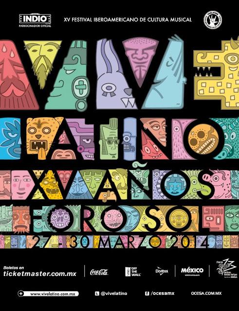 Cartel Oficial Vive Latino 2014