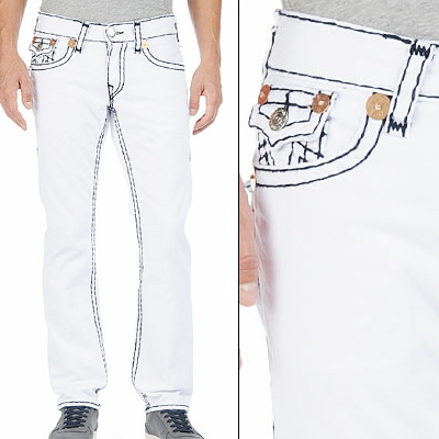 Black jeans white stitching men's – Global fashion jeans models