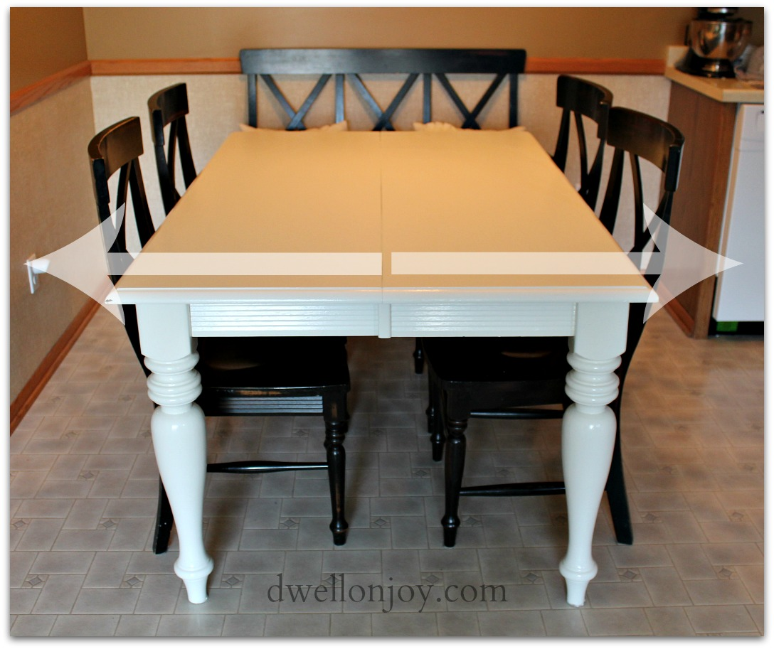 Dining table diy dining table refinish - Refinishing a kitchen table ...